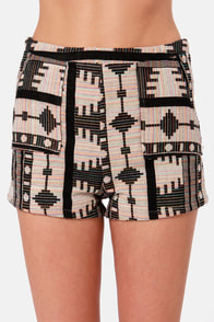 Tribal Vibe High-Waisted Tribal Print Shorts at Lulus.com!