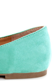 Cherry 11 Mint Ballet Flats at Lulus.com!