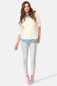 BB Dakota by Jack Siza Tribal Print Skinny Pants at Lulus.com!
