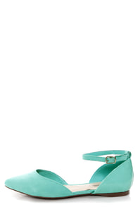 Dolley 01 Mint D'Orsay Pointed Flats at Lulus.com!