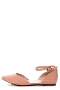 Dolley 01 Blush Pink D'Orsay Pointed Flats at Lulus.com!