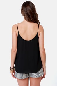 No Ziggity, No Doubt Embroidered Black Top at Lulus.com!