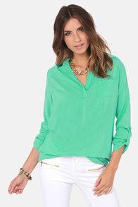 Wishing Well Mint Green Tunic Top
