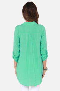 Wishing Well Mint Green Tunic Top at Lulus.com!