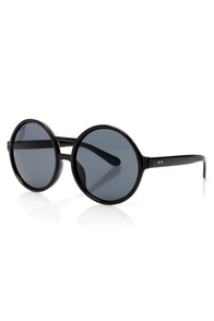 Get Into the Groove Black Sunglasses at Lulus.com!