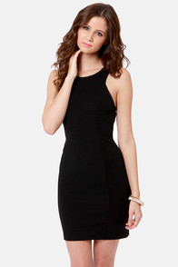 Day and Cage Backless Black Dress at Lulus.com!