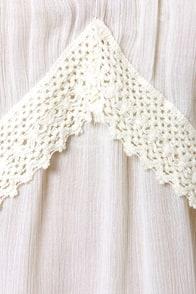 O'Neill Lolita Cream Crocheted Tank Top at Lulus.com!