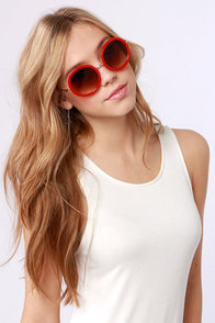 Inner Circle Red Sunglasses at Lulus.com!