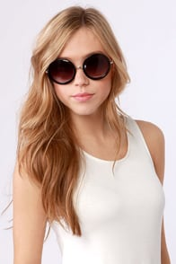Inner Circle Silver and Black Sunglasses at Lulus.com!