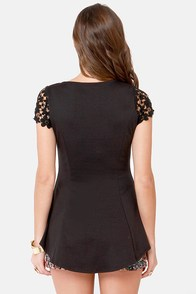 At Charm's Length Black Lace Top at Lulus.com!