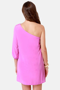 C'mon Get Happy One Shoulder Lavender Dress at Lulus.com!