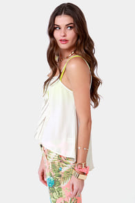 No Ziggity, No Doubt Embroidered Cream Top at Lulus.com!
