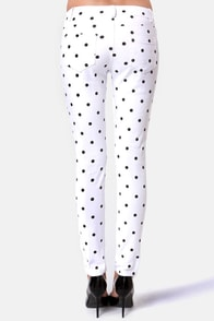 Penny for Your Dots White Polka Dot Jeggings at Lulus.com!