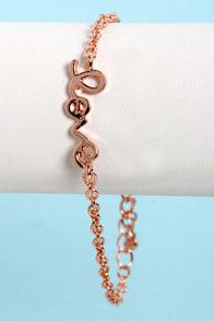 Heart on a String Rose Gold Love Bracelet at Lulus.com!