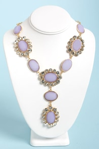 Ice-Capade Lavender Statement Necklace