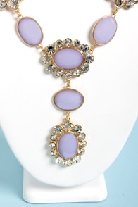 Ice-Capade Lavender Statement Necklace at Lulus.com!