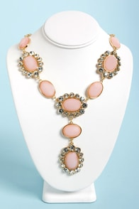 Ice-Capade Peach Statement Necklace