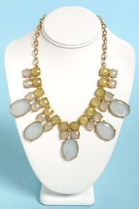 A Frost Cause Blue Statement Necklace