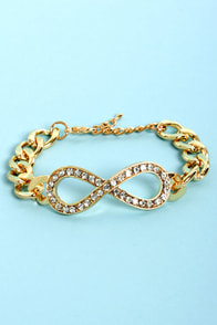 Club Hits Gold Infinity Bracelet at Lulus.com!