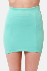 Vixen The Mix Mint Blue Skirt at Lulus.com!