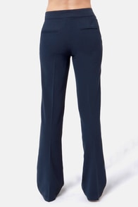 In The Crow's Nest Navy Blue Pants at Lulus.com!