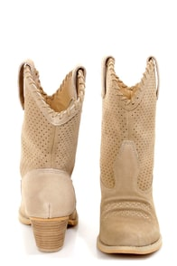 Very Volatile Round-Up Sand Beige Suede Cowboy Boots at Lulus.com!