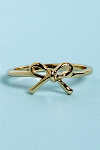 You Oughta Bow Gold Bow Ring at Lulus.com!