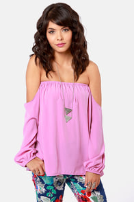 Electric Slide Off-the-Shoulder Lavender Top at Lulus.com!
