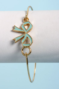 In the Bow Mint and Gold Bow Bracelet at Lulus.com!