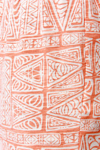 O'Neill Amped Orange Cutout Print Dress at Lulus.com!