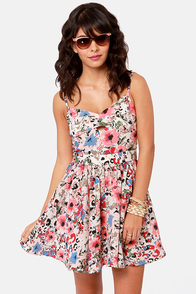 Lucca Couture Garden Groove Floral Print Dress at Lulus.com!