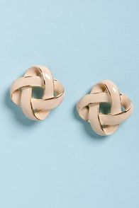 Feeling Loopy Blush and Gold Earrings at Lulus.com!