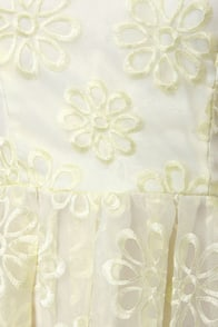 Lotus Dance Strapless Cream Embroidered Dress at Lulus.com!