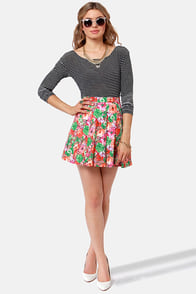 Sunshine State Floral Print Skirt at Lulus.com!