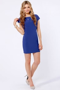Lucy Love Mondrian Backless Blue Dress at Lulus.com!