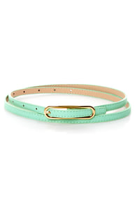 Oval Office Skinny Belt at Lulus.com!