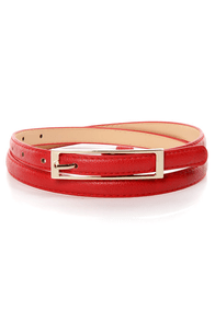 Belt It Out Red Skinny Belt at Lulus.com!