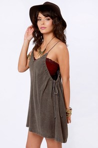 RVCA Beach Bum Sable Brown Dress at Lulus.com!