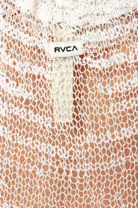 RVCA Radiant One Ivory Mesh Tank Top at Lulus.com!