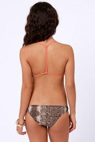 RVCA Raksasa Maluku Coral and Python Print Bikini at Lulus.com!