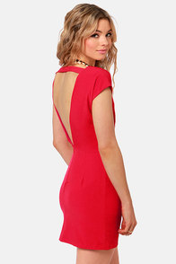 Lucy Love Mondrian Backless Red Dress at Lulus.com!