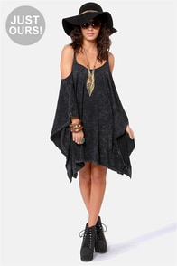 LULUS Exclusive Fair Play Washed Black Dress
