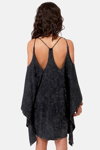 LULUS Exclusive Fair Play Washed Black Dress at Lulus.com!