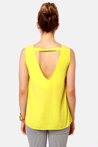 Cuts and Bolts Neon Yellow Top at Lulus.com!