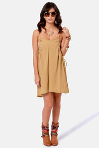 RVCA Beach Bum Tan Dress at Lulus.com!