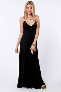 Costa Blanca Blackbird Fly Black Maxi Dress at Lulus.com!