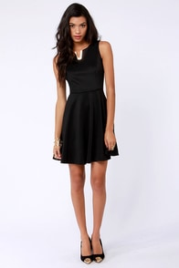Practice in Posh Black Dress at Lulus.com!