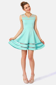 Final Stretch Mint Blue Dress at Lulus.com!