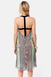 Aryn K Firebird Southwest Print High-Low Dress at Lulus.com!