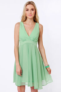 Sipping Punch Mint Green Dress